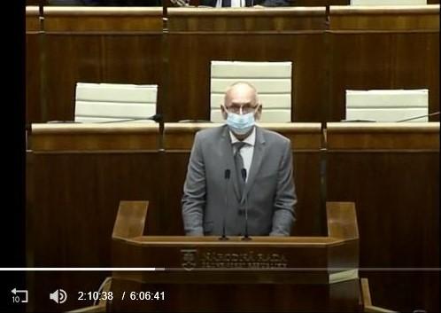 Vystúpenie K. Mitríka v NRSR, 16. 9. 2020