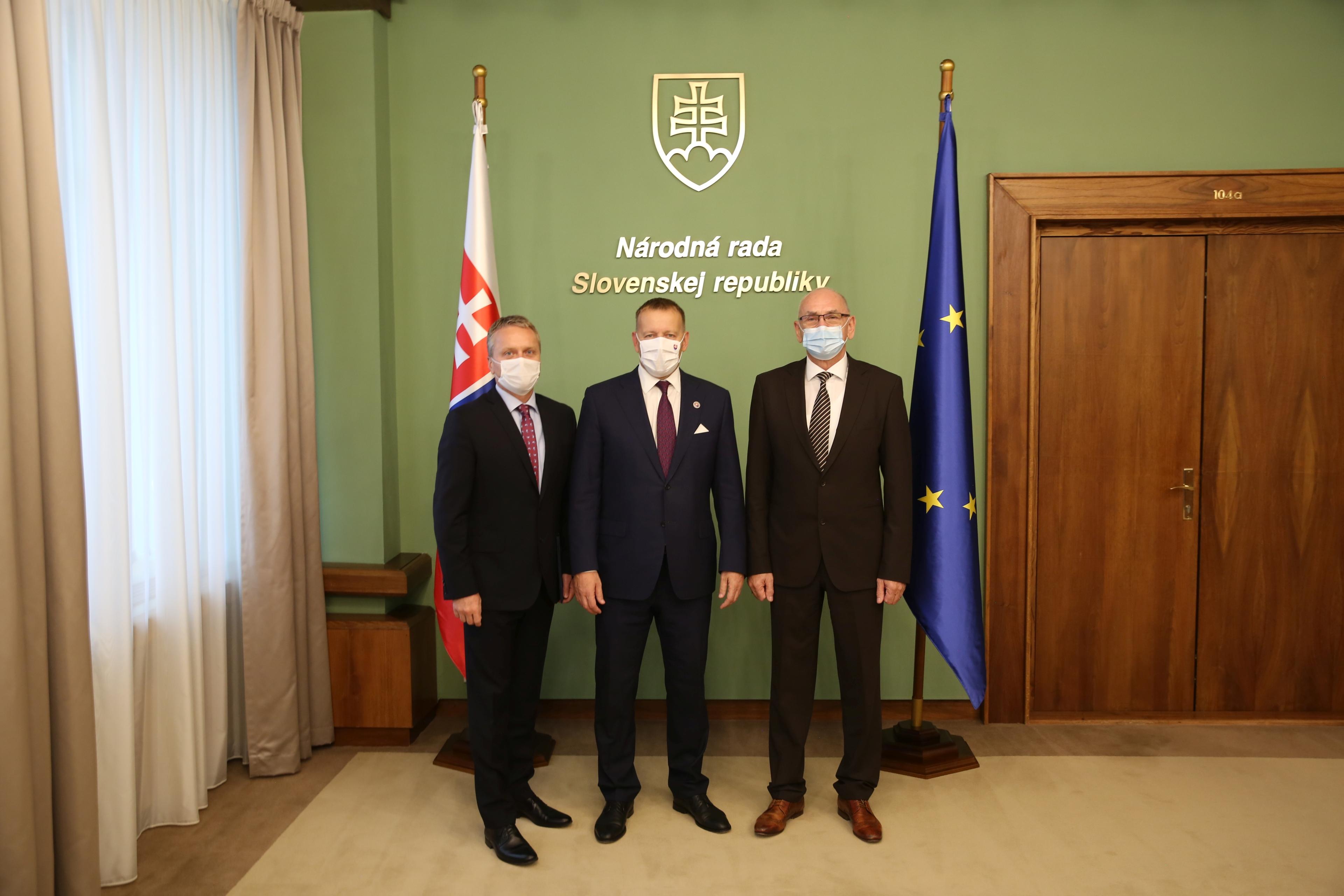 Stretnutie Ľ. Andrassy, B. Kollár, K. Mitrík