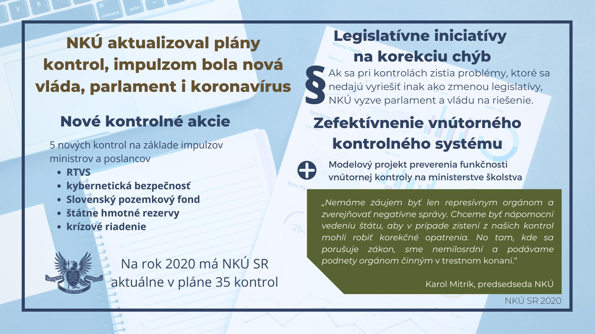 Infografika - nové kontroly