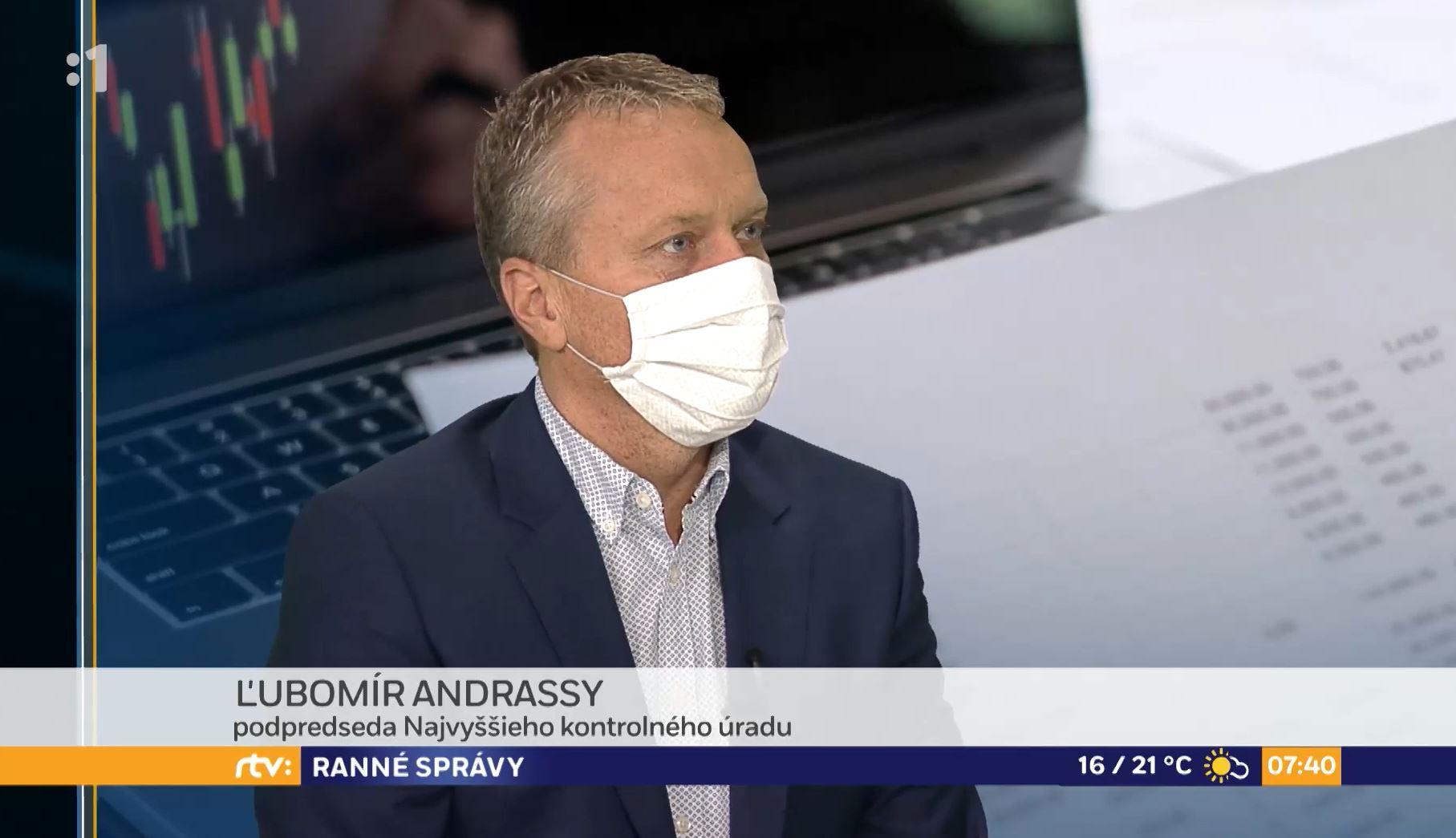 Ľ. Andrassy v Ranných správach RTVS
