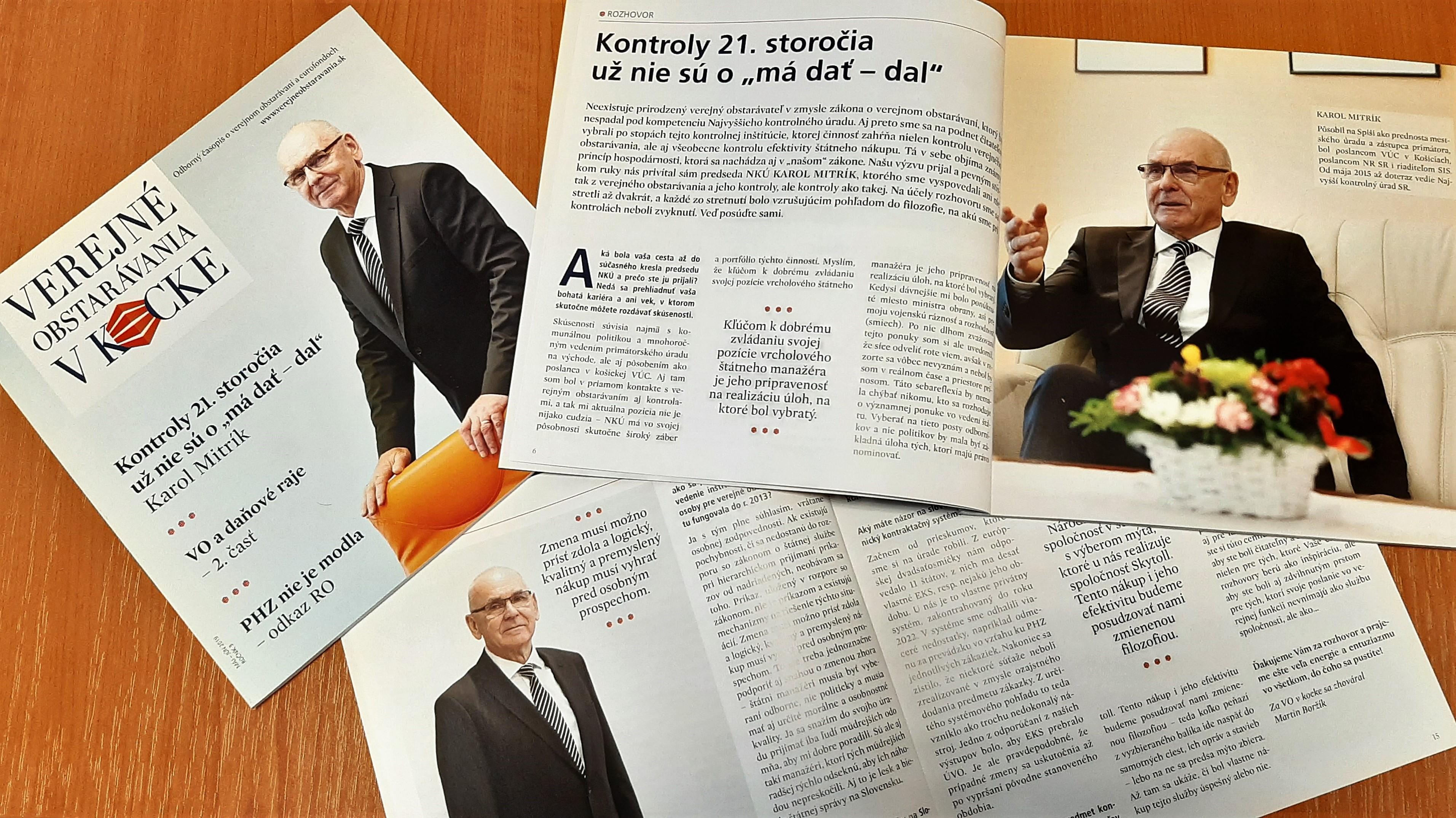 Rozhovor s K. Mitríkom - ilustračné foto