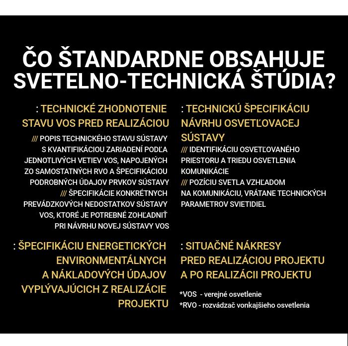 infografika - Svetelno technická štúdia