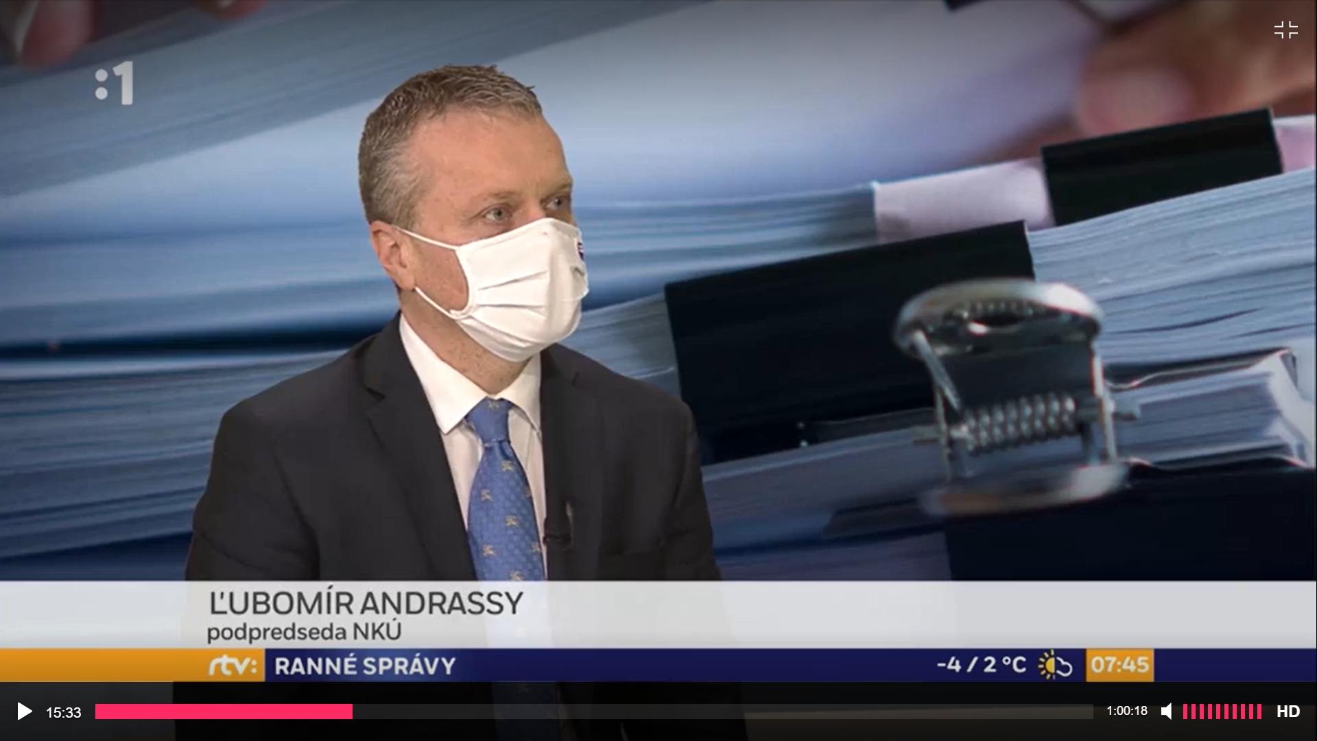 Podpredseda NKÚ SR Ľubomír Andrassy v RTVS