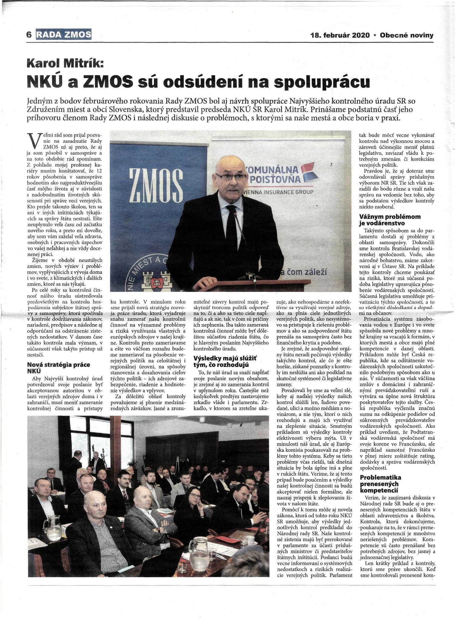 náhľad článku - Obecné noviny