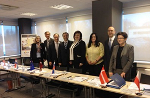 Peer review team (from left): Leslie Holen (USA), Herman Oosterhof (Netherlands), Timo Lehtinen (ECA), Igor Blaško (Slovakia), Elita Krumina (Auditor General, SAI of Latvia), Iveta Fáberová (Slovakia), Jannik Dalgaard (Denmark) and Iwona Zyman (Poland)