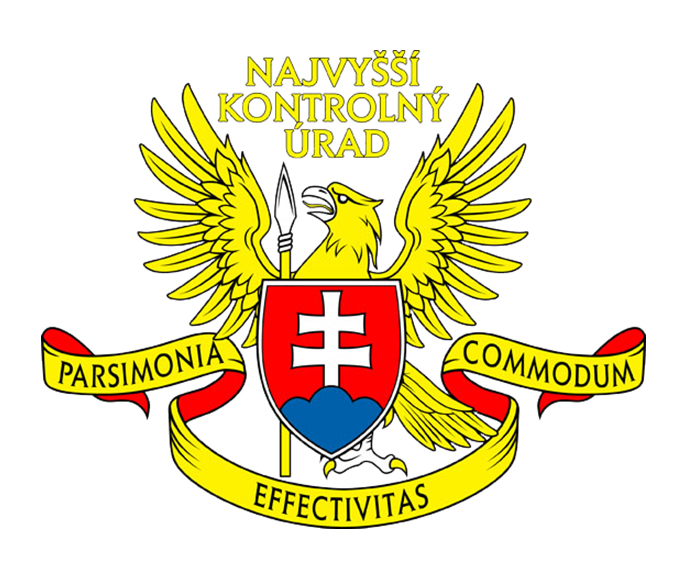 The coat of arms has a golden ribbon lined with red fabric and words Parsimonia (Economy or Thrift), Effectivitas (Efficiency) and Commodum (Convenience). In a letter from 16. 04. 2007, the Ministry of Interior, its Heraldic Commission, stated that the said coat of arms fulfilled all the conditions for heraldic symbols to be accepted and listed in the heraldic register of the Slovak Republic.