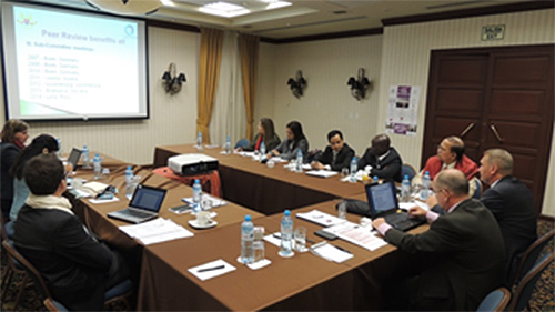 The INTOSAI Sub-Committee for Peer Review deliberations